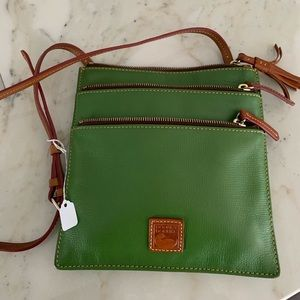 Retro Dooney & Bourke Green Crossbody Bag